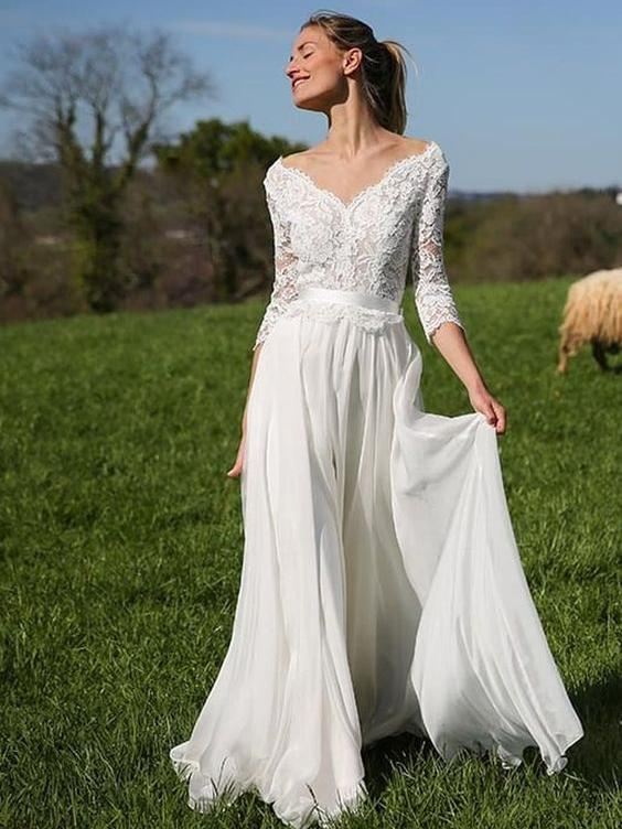 Long Informal Wedding Dresses